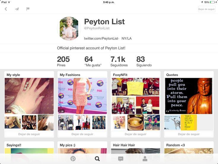 Plis sigan a Peyton List!!! Es la real, y lo digo por la cantidad de seguidores, 7.1k, ¿Si @TiniStoesel  es una celebridad porque tiene tan pocos seguidores? @PeytonRoiList