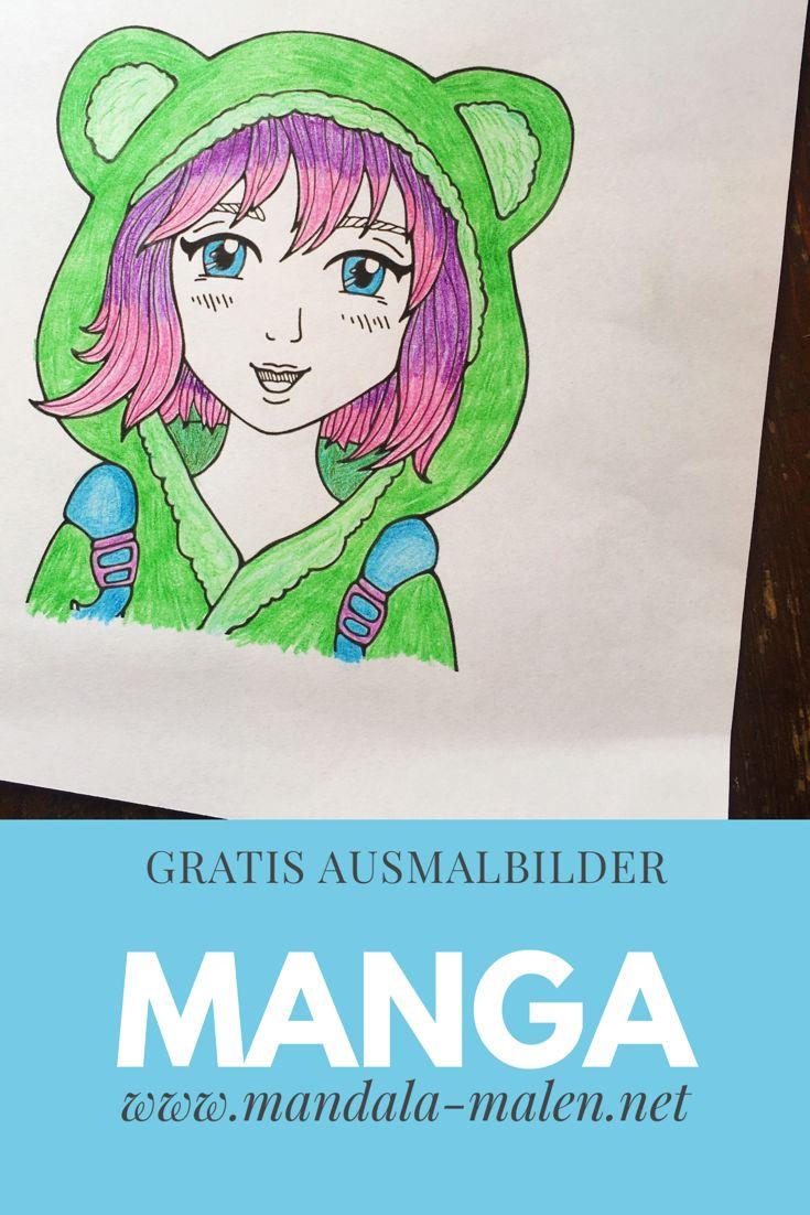 Topmodel Ausmalbilder Selbst Gestalten : 7 Best Malvorlagen Manga Anime Kostenlos Zum Ausdrucken Images