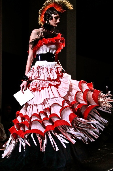 Jean Paul Gaultier was also a frequent factor in Irina Kruzhilina's inspiration board for Columbine in #Petrushka.