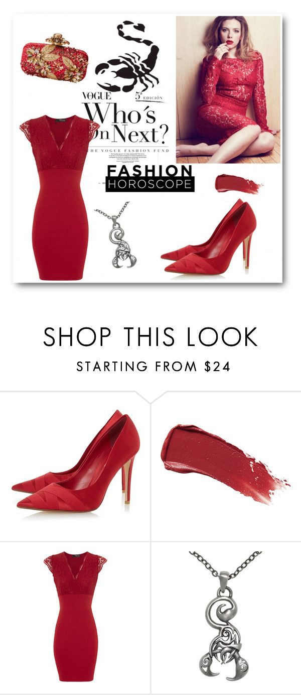 """""""Fashion Scorpion"""" by julyralewis ❤ liked on Polyvore featuring Dune, Smith & Cult, Jane Norman, Carolina Glamour Collection, Oscar de la Renta and WALL"""
