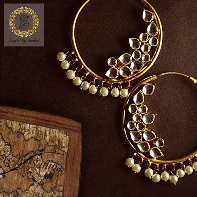 Pachi Kundan Balis , perfect for that Roka or Mehendi function this season…