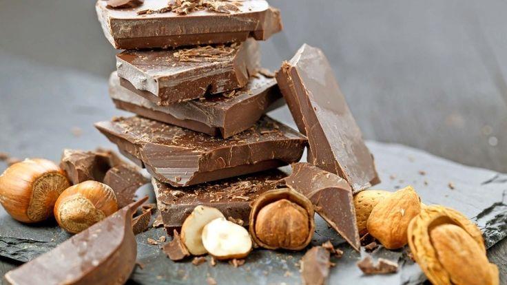 Dark chocolate hazelnuts and almonds, chocolate salami ingredients