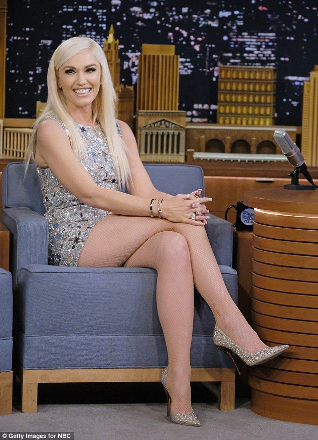 d076f3cf6ce Gwen Stefani stuns in silver mini dress with matching shoes
