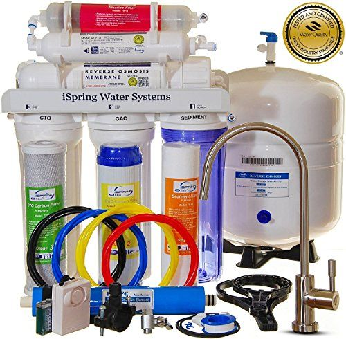iSpring RCC7AK - Built in USA, WQA Certified Reverse Osmosis 6 Stages 75GPD Under Sink Water Filter w/ Alkaline stage, Clear Housing, Designer Faucet iSpring http://www.amazon.com/dp/B005LJ8EXU/ref=cm_sw_r_pi_dp_kKOKwb0TWFK4F