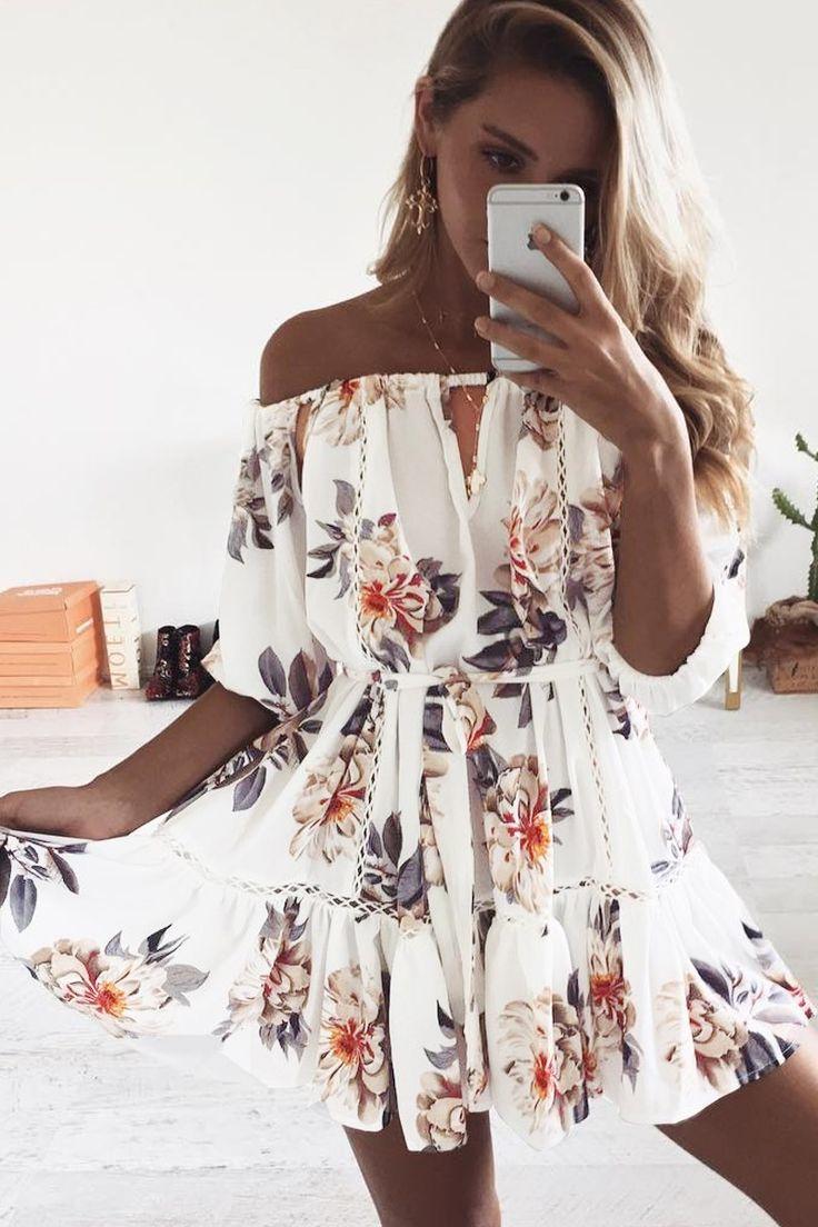 floral dresses, white floral dresses, short floral dresses, floral dress with sleeve, summer floral dresses, floral print dresses, floral formal dresses