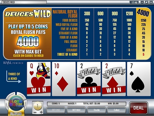 Deuces Wild Video Poker- Rival...    http://www.video-poker-online.org/