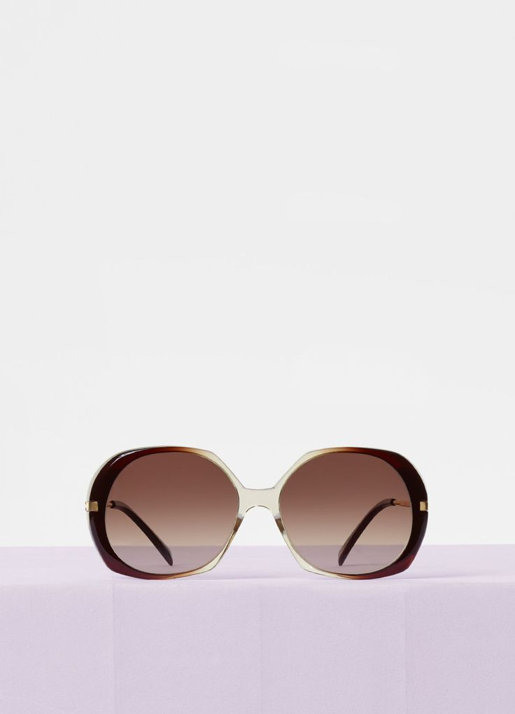 Butterfly sunglasses in acetate and metal | CÉLINE