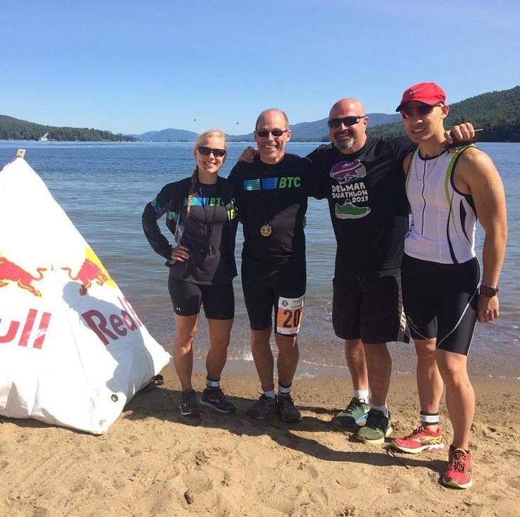 Achieved my personal best at the Olympic distance at the Lake George Triathlon today. I'm grateful for my triathlon partners Evan Kujawski and Adrian. Larry Salvagni was not an athlete today, but he was an athletic supporter.  #DrAdventure #BethlehemTriathlonClub #Inspire