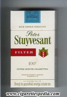 Peter Stuyvesant cigarettes