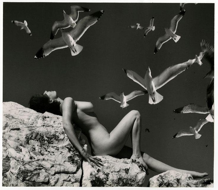 Vintage Large Format Andre de Dienes Erotic Mid-Century Modern Nude Photograph
