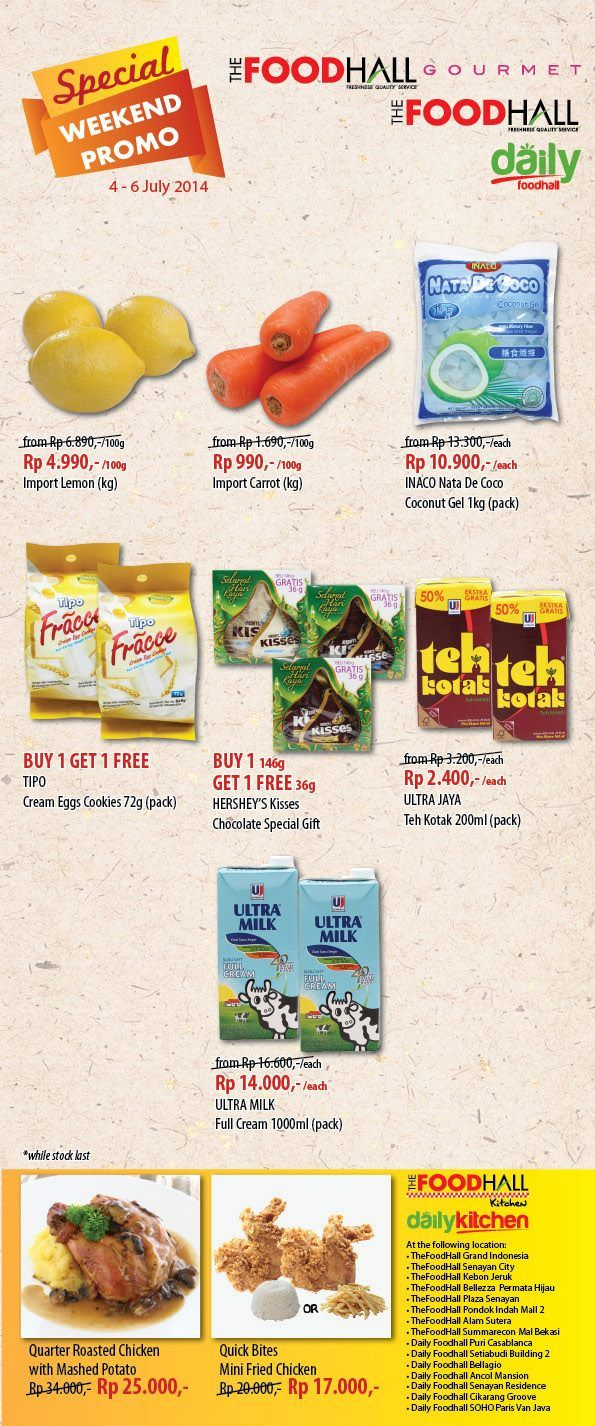 The FoodHall: Weekend Promo Special @TFoodHall
