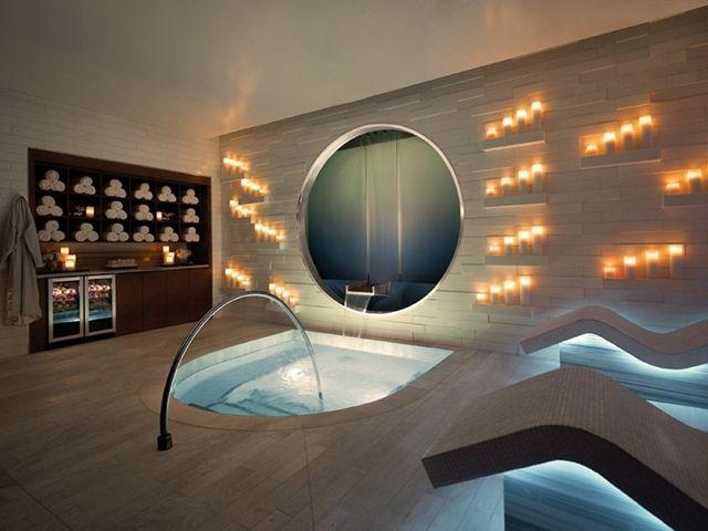 salle de bain de décoration zen