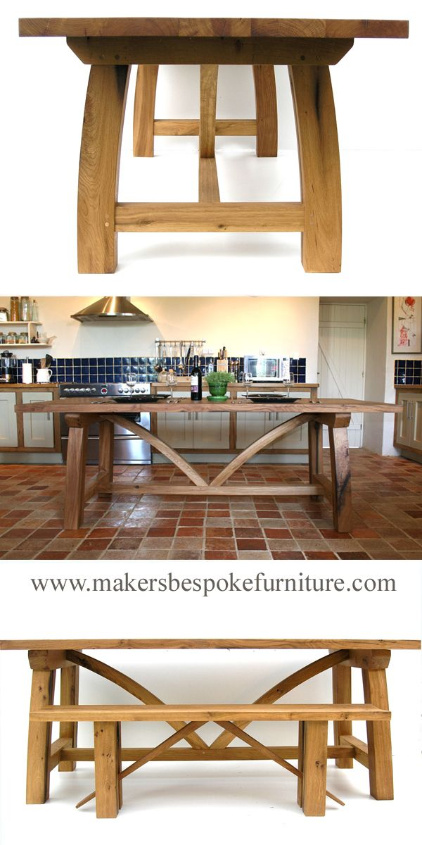 Bespoke Oak Refectory Table Makers Furniture Handmade To Order For A Dorset Uk Client France Delivery Tablefordorset