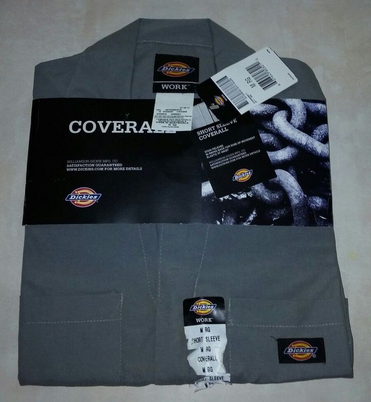 Dickies Work Coveralls Medium Regular Gray Short Sleeve New with Tags Mechanic  #Dickies
