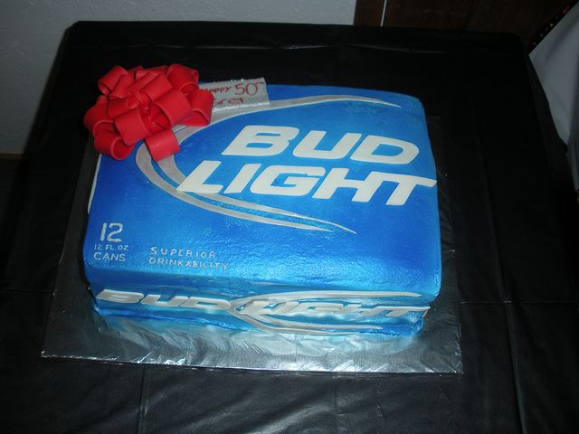 Case of Bud light cake by kiraashley, via Flickr