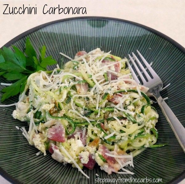 Zucchini Carbonara - a tasty low carb alternative!