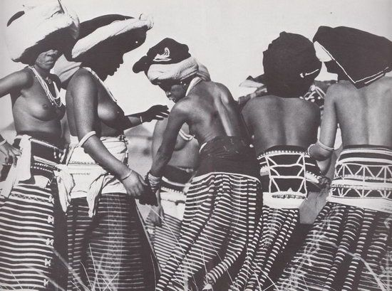 "Xhosa traditional skirts from the book, ""African Elegance"" by Alice Mertens and Joan Broster 