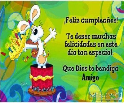tarjeta de feliz cumpleaños para un amigo querido