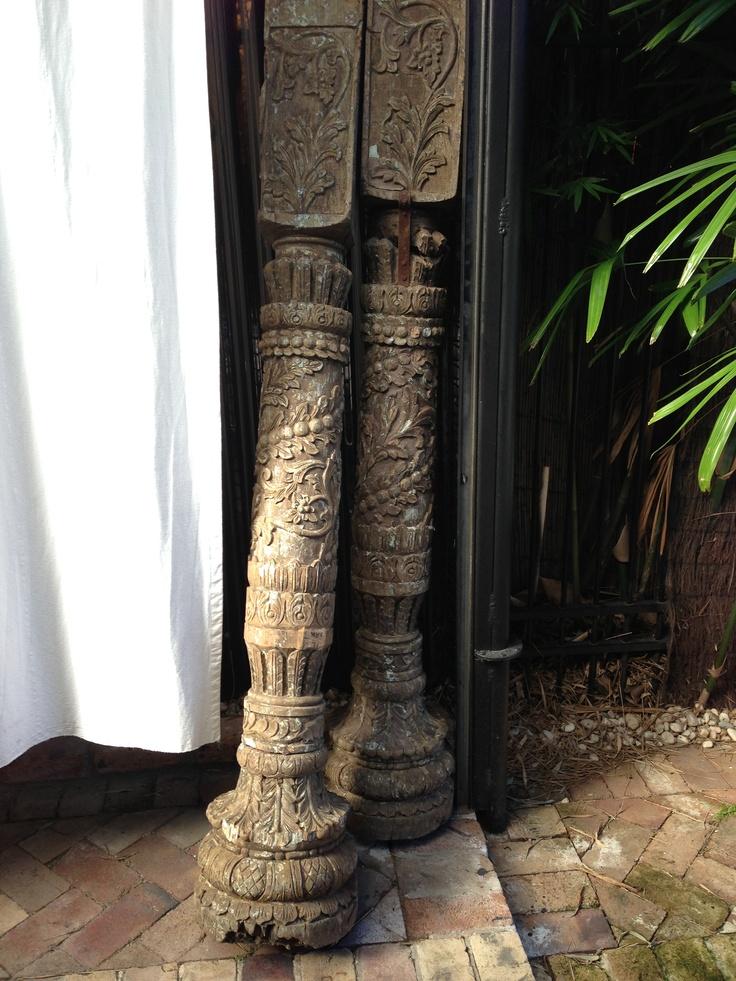 Indian columns at LuMu Interiors   427 Darling Street, Balmain www.lumuinteriors.com