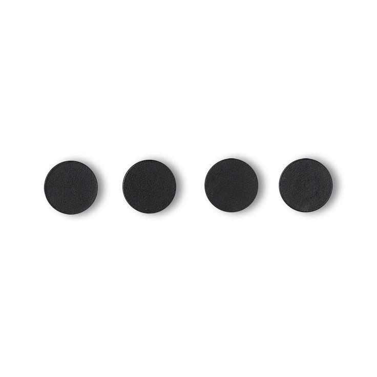 by Lassen - Remind Magnete (4er-Set), schwarz Schwarz