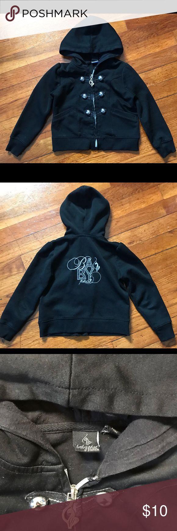 Baby Phat girls Hoodie Very cute Black and Silver hoodie. Baby Phat Tops