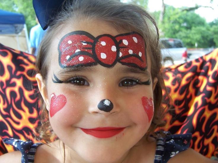 Peinture Visage, Maquillage Enfant, Peinture De Visage Facile, Minnie  Mouse, Souris, Children Make Up