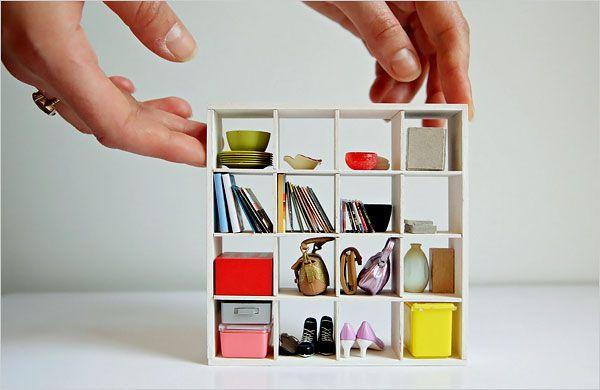 A miniature #Expedit bookshelf, I love it!