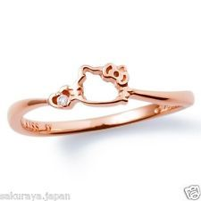 Hello Kitty Rose Gold Engagement Ring #HelloKitty #EngagementRings #love