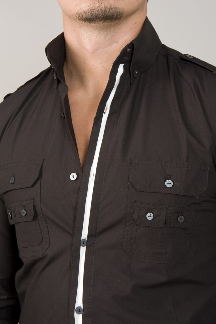 Black button down dress shirts for men