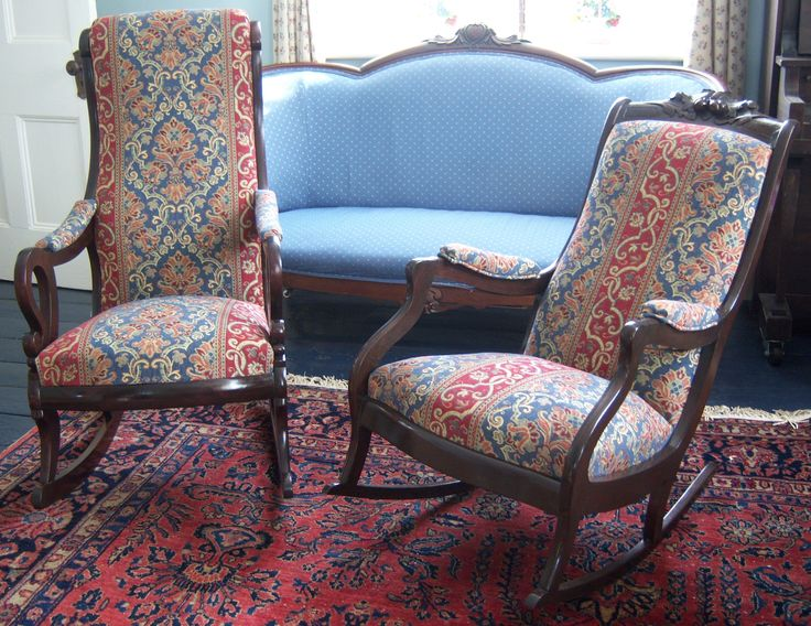 2 Victorian Rocking Chairs Restored Re Upholstered My Old Cher Home Decor Pinterest