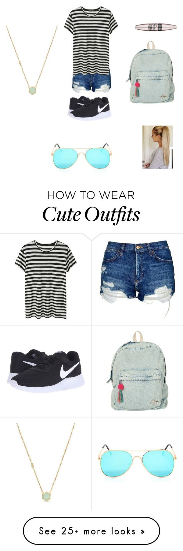 """Lazy cute outfit"" by lkr82203 on Polyvore featuring Topshop, Proenza Schouler, NIKE, Cole Haan, Billabong and Maybelline"