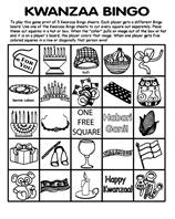 kwanzaa bingo board no5 coloring page