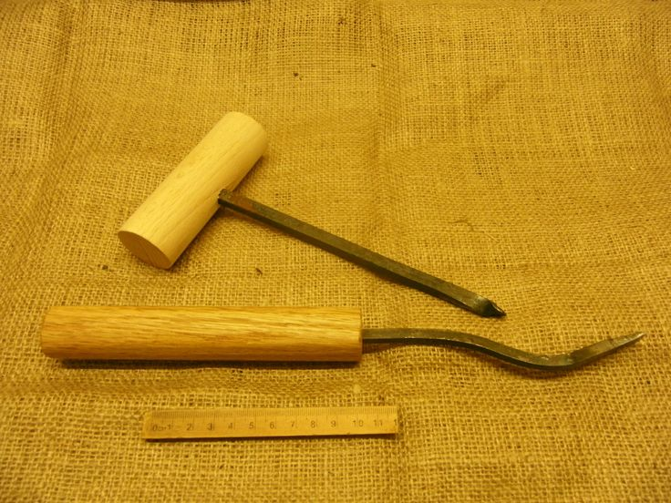 late viking early medieval novgorod style mallet and chisel set living history reenactment use by Daegrad on Etsy