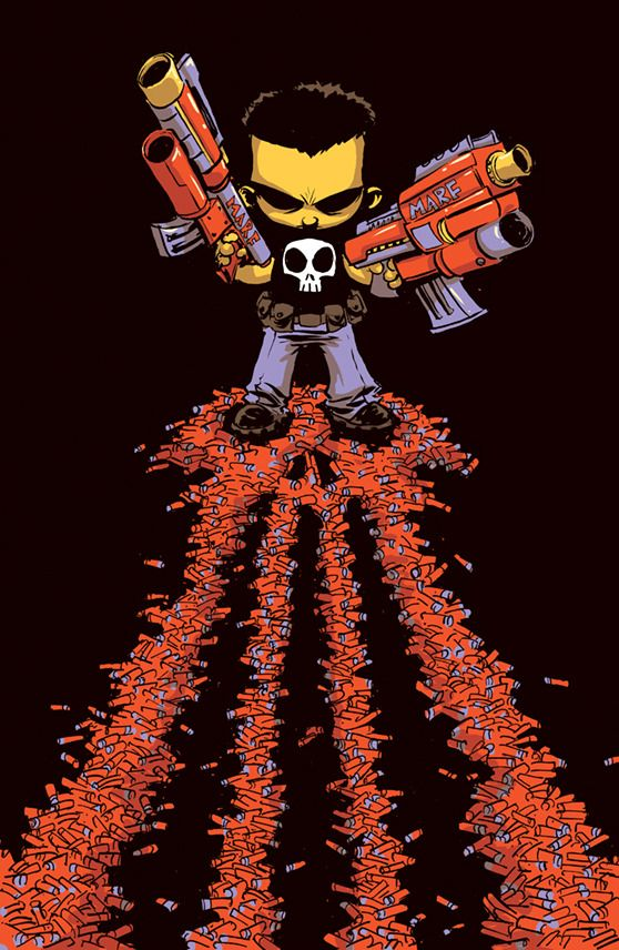 The Punisher #1 (2016) variant cover by Skottie Young