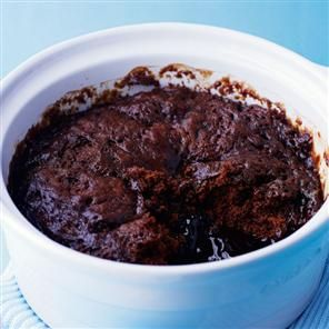 Self-saucing chocolate pudding Recipe | delicious. UK Magazine. Fantastic & done in the microwave!