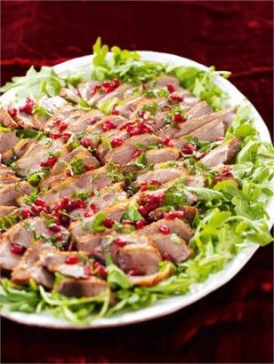#Nigella Lawson's #duck breast with pomegranite and mint
