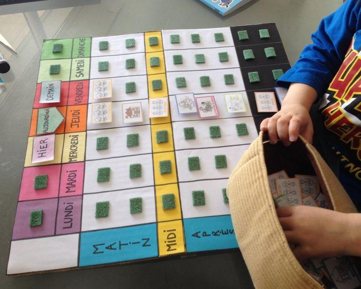 17 meilleures id es propos de semainier enfant sur pinterest calendrier enfant tableau d. Black Bedroom Furniture Sets. Home Design Ideas