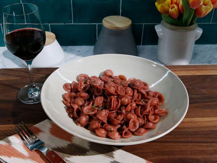 Drunken Red Wine Pasta recipe from Kitchen Sink via Food Network