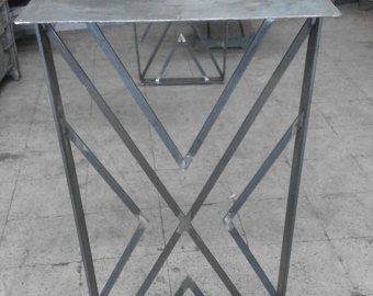 28 tavolo in metallo gambe Base in acciaio larghezza 24