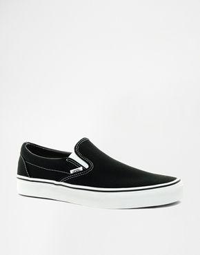 Ingrandisci Vans - Scarpe da ginnastica nere classiche senza lacci