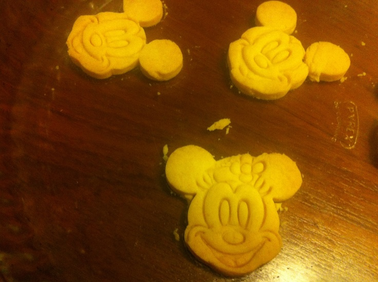 Mickey and Minnie mouse biscuits