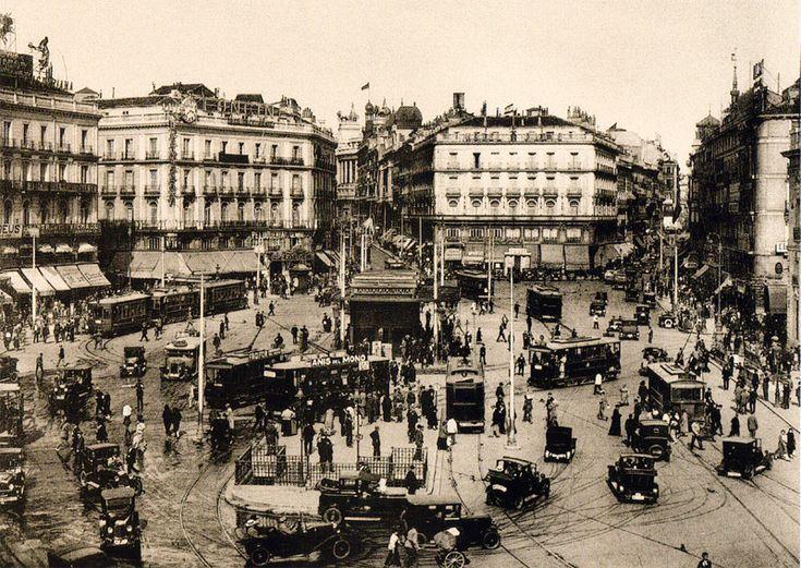 La Puerta del Sol de Madrid en 1930
