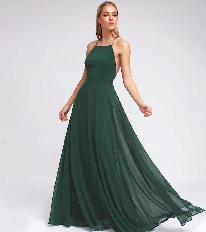 1001 Idées De Robe De Cocktail Pour Mariage Chic Maxi Dress Green Wedding Guest Dress Backless Maxi Dresses