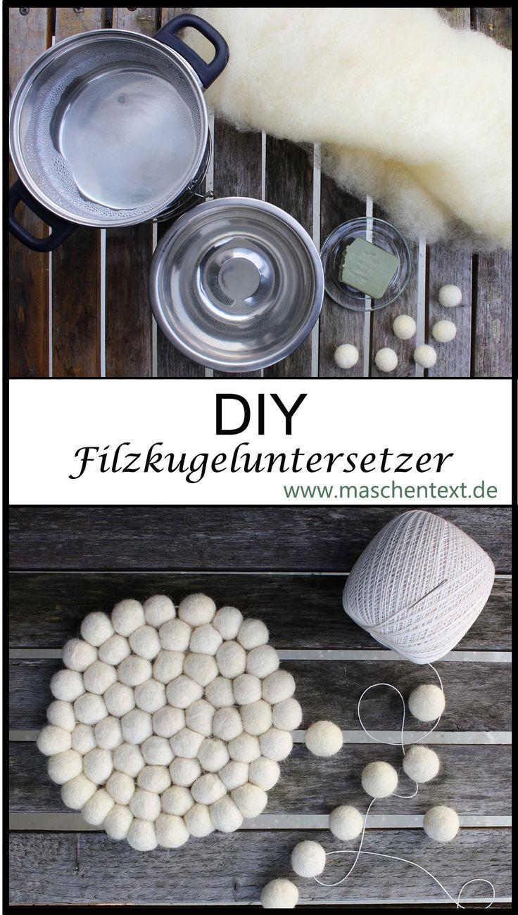 Anleitung für Filzkugel-Untersetzer: Reine Wolle, Seife, warmes Wasser u …   – Wollige DIY-Projekte