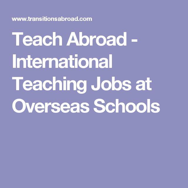 Teach Abroad - International Teaching Jobs at Overseas Schools