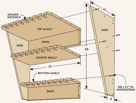 Clamp Storage Rack