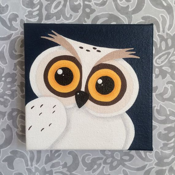 Harry Potter Hedwig Original Painting Owl  5 by HereComesTheNerd