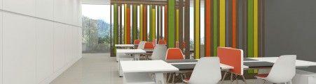 Paneles de madera para decorar y dividir estancias. Lattices y Acoustic. Colecciones de Raclima