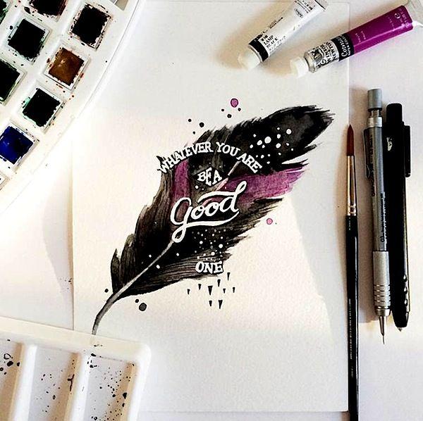"""Die von den Philippinen stammende Grafik-Designerin June Digan versteht es hervorragend, Typographie-Letterings und Watercolor-Malerei in Ihrer Kunst zu vereinen. Motivierende und humorvolle Zitate und Weisheiten wie beispielsweise """"Calories Don't Count On Weekends"""" oder """"Relax, Not Every Page Has To Be A Masterpiece"""" bestimmen die Artworks der jungen Dame aus Manila auf optisch sehr ansprechende Weise. Einige Arbeiten von June Digan... Weiterlesen"""