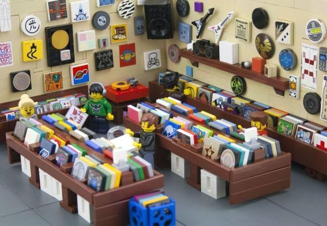 Tienda de discos hecha con LEGO - dod Magazine